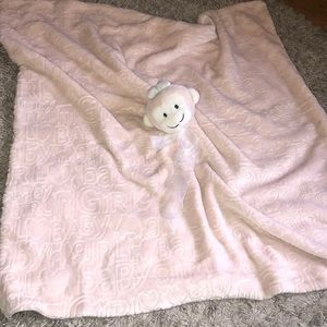 Baby girl monkey blanket